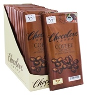 Chocolove - Dark Chocolate Bars Box Coffee Crunch - 12 Bars