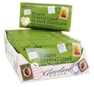 Chocolove - Dark Chocolate Bars Box Crystallized Ginger - 12 Bars