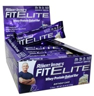 Chef Robert Irvine FortiFX - Fit Elite Baked Protein Bars Box Birthday Cake - 12 Bars