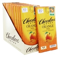 Chocolove - Dark Chocolate Bars Box Orange Peel - 12 Bars