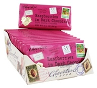 Chocolove - Dark Chocolate Bars Box Raspberries - 12 Bars