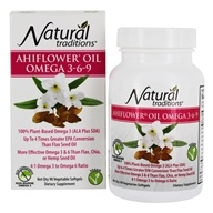 Natural Traditions - Ahiflower Oil Omega 3-6-9 - 90 Vegetarian Softgels