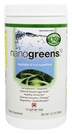 Biopharma Scientific - NanoGreens 10 Natural Green Apple - 12.7 oz.