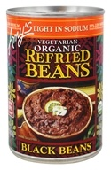 Amy's - Organic Low Sodium Refried Beans Black Beans - 15.4 oz.