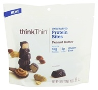 Think Products - thinkThin Unwrapped Protein Bites Peanut Butter - 4.5 oz.