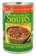 Amy's - Organic Low Sodium Soup Lentil Vegetable - 14.5 oz.