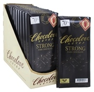 Chocolove - Dark Chocolate Bars Box Strong Dark - 12 Bars