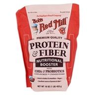 Nutritional Booster Protein & Fiber Powder with Chia & Probiotics Unflavored & Unsweetened - 16 oz. by Bob's Red Mill