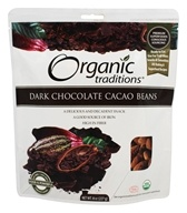 Organic Traditions - Cacao Beans Dark Chocolate - 8 oz.