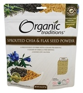 Organic Traditions - Sprouted Chia and Flax Seed Powder - 8 oz.