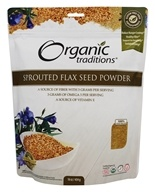 Organic Traditions - Sprouted Flax Seed Powder - 16 oz.