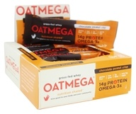 Oatmega - Grass-Fed Whey Bars Box Chocolate Peanut Crisp - 12 Bars