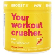 Eboost - Pow Pre-Workout Superenhancer Tropical Punch - 8.5 oz.
