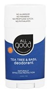 Elemental Herbs - All Good Deodorant Tea Tree & Basil - 2.5 oz.