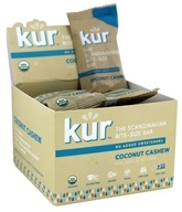 Kur - Organic Scandinavian Raw Date & Nut Bars Box Coconut Cashew - 12 Bars