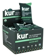 Kur - Organic Scandinavian Raw Date & Nut Bars Box Cacao Mint - 12 Bars