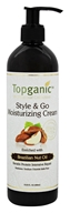 Topganic - Style & Go Moisturizing Cream Enriched with Brazilian Nut Oil - 13.53 oz.