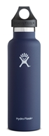 Hydro Flask - Stainless Steel Water Bottle Vacuum Insulated Standard Mouth Cobalt - 21 oz.