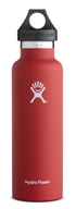 Hydro Flask - Stainless Steel Water Bottle Vacuum Insulated Standard Mouth Lava - 21 oz.