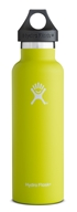Hydro Flask - Stainless Steel Water Bottle Vacuum Insulated Standard Mouth Citron - 21 oz.