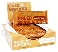 Paleo Simplified - Superfood Energy Bar Chocolate Coconut Almond - 12 Bars
