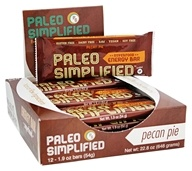 Paleo Simplified - Superfood Energy Bar Pecan Pie - 12 Bars