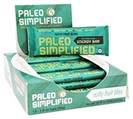 Paleo Simplified - Superfood Energy Bar Nutty Fruit Bliss - 12 Bars