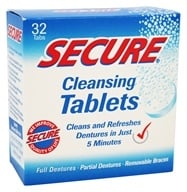 Secure - Denture Cleansing Tablets - 32 Tablets