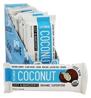Nutraw - Nutrawbar Raw Organic Superfood Bars Box Coconut - 12 Bars