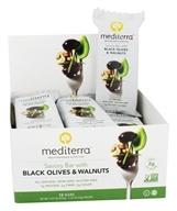 Mediterra - Savory Bars Box Black Olives & Walnuts - 12 Bars