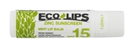Eco Lips - Organic Zinc Sunscreen Lip Balm Mint 15 SPF - ...
