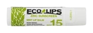 Eco Lips - Organic Zinc Sunscreen Lip Balm Mint 15 SPF - 0.15 oz.