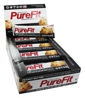 PureFit - All-Natural Premium Nutrition Bars Box Peanut Butter Chocolate Chip - 15 Bars