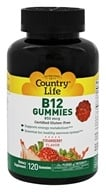 Country Life - Vitamin B12 Gummies Strawberry 850 mcg. - 120 Gummies