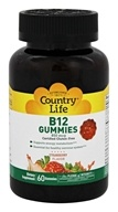 Country Life - Vitamin B12 Gummies Strawberry 850 mcg. - 60 Gummies