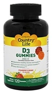 Country Life - Vitamin D3 Gummies Strawberry & Orange 1000 IU - 120 Gummies