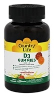 Country Life - Vitamin D3 Gummies Strawberry & Orange 1000 IU - 60 Gummies