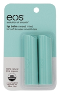 Eos Evolution of Smooth - Lip Balm Stick Sweet Mint - 2 Pack
