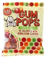 Glee Gum - 100% Natural Gum Pops with Bubblegum Centers Assorted - 10 Lollipop(s)
