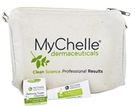 MyChelle Dermaceuticals - Canvas Zipper Pouch with Sun Shield SPF 28 and Refining Sugar Scrub Trial Kit