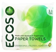 Earth Friendly - ECOS Paper Towels 2-Ply 115 Sheets - 6 Roll(s)