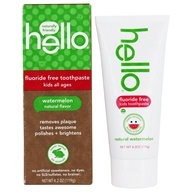 Hello Products - Kids Fluoride and SLS Free Toothpaste Watermelon - 4.2 oz.