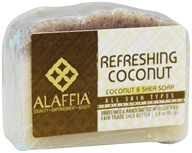 Alaffia - Virgin Coconut & Shea Hydrating Body Bar Soap Refreshing Coconut & Shea Butter - 3 온스.