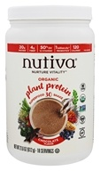 Nutiva - Organic Plant Protein Superfood 30 Shake Chocolate - 21.6 oz.