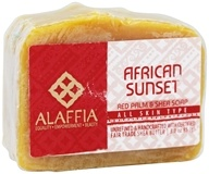 Alaffia - Red Palm & Shea Nurturing Body Bar Soap African Sunset - 3 oz.