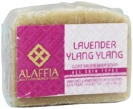 Alaffia - Shea & Goat Milk Daily Toning Face Bar Soap Lavender Ylang Ylang - 3 oz.
