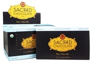 Sacred Chocolate - Organic Rectangles Chocolate Bars Box 60% Cacao Coconut & Nibs - 11 Bars