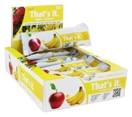 That's It - Fruit Bars Box Apple + Banana - 12 Bars