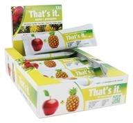 That's It - Fruit Bars Box Apple + Pineapple - 12 Bars