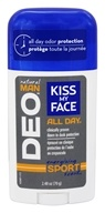 Kiss My Face - Natural Man All Day Deodorant  Energizing Sport Scent - 2.48 oz.
